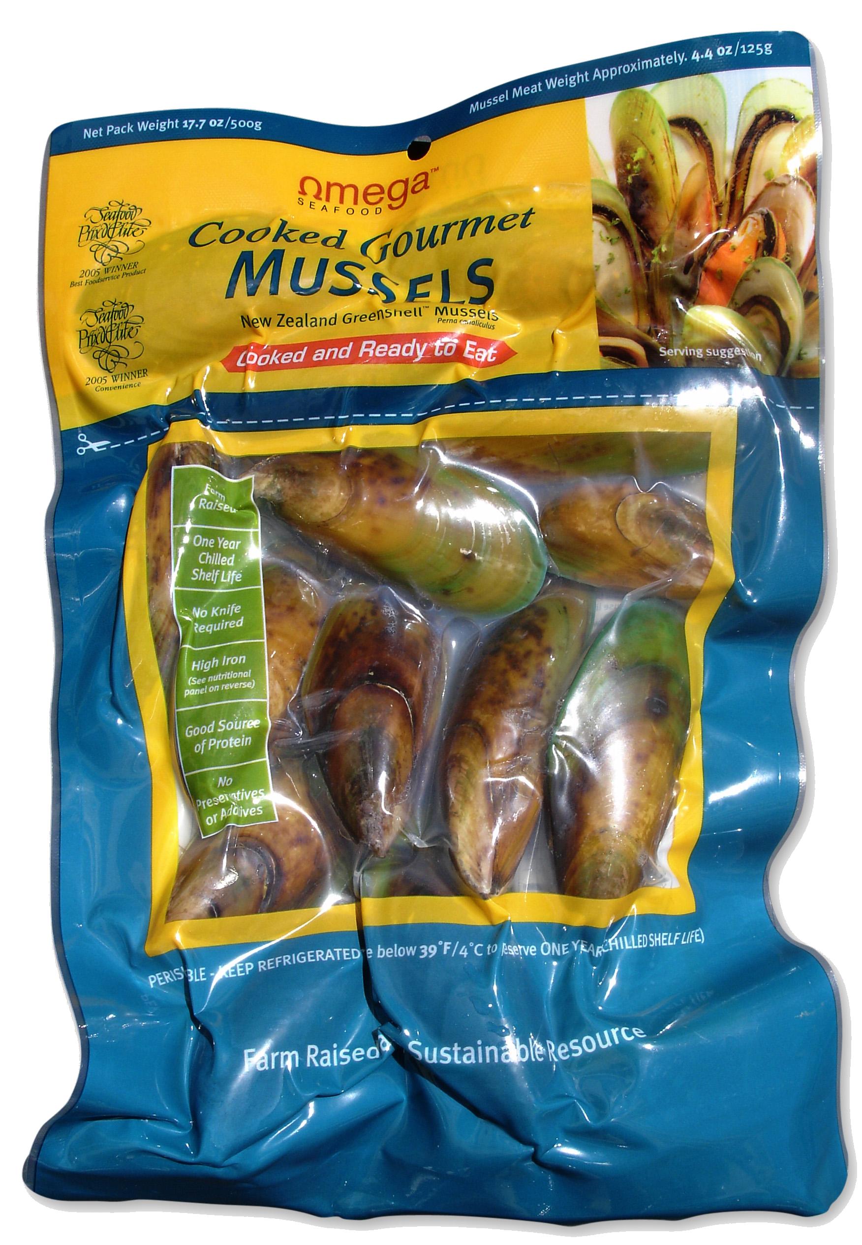 Omega Greenshell Mussels 500g